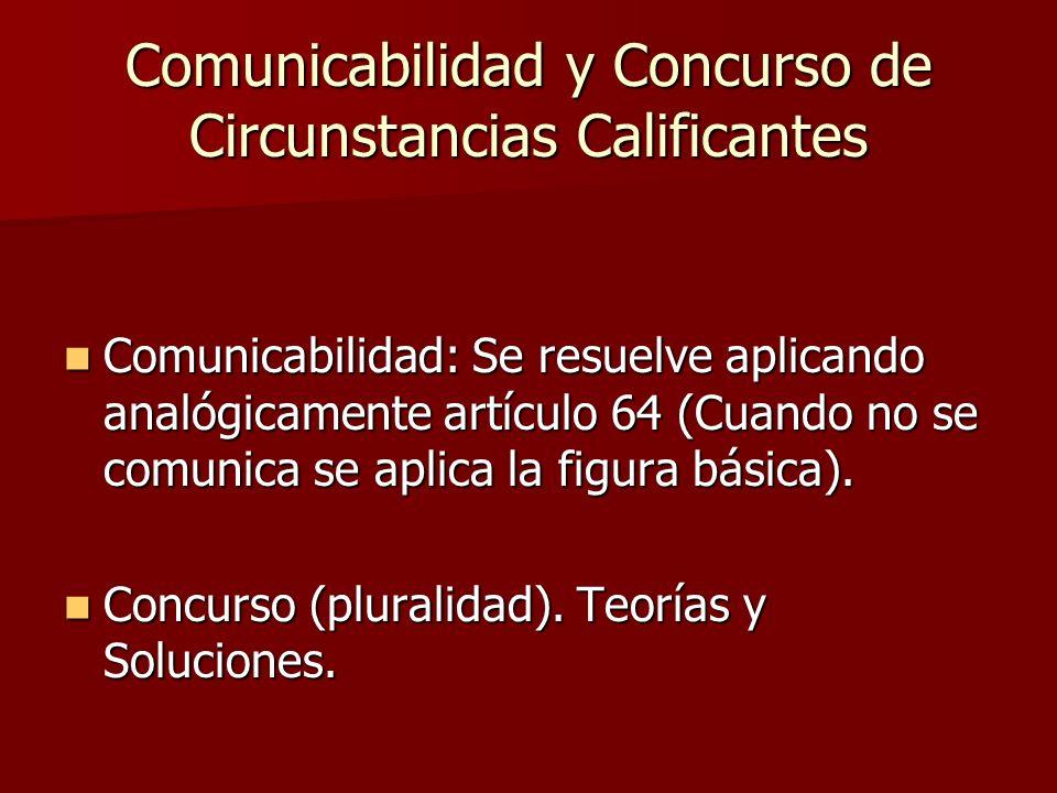 Comunicabilidad y Concurso de Circunstancias Calificantes
