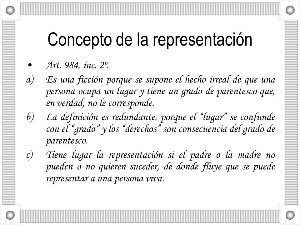 Concepto de la representación