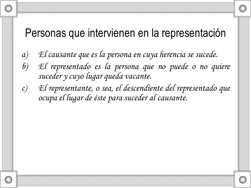 Personas que intervienen en la representación