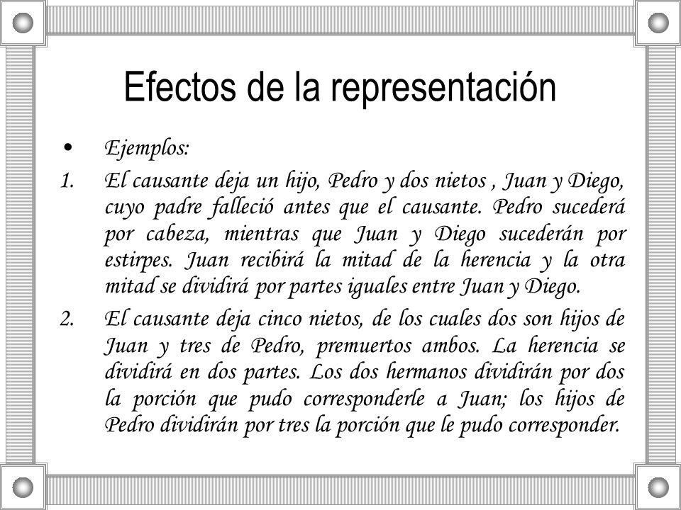 Efectos de la representación