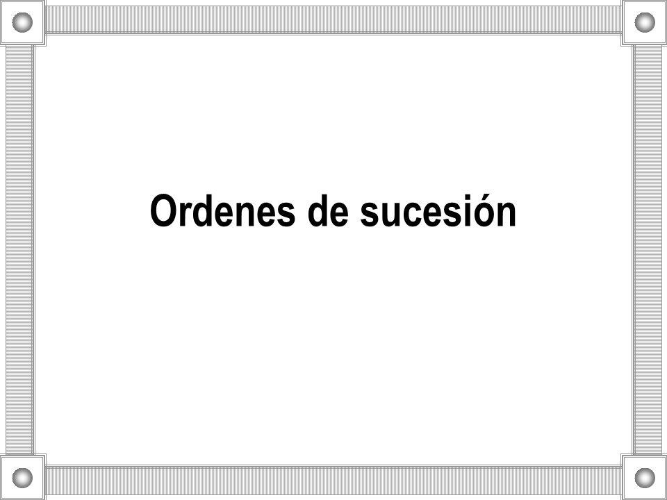Ordenes de sucesión
