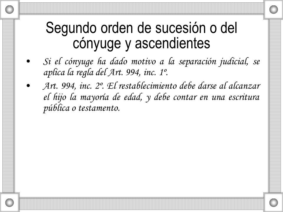 Segundo orden de sucesión o del cónyuge y ascendientes