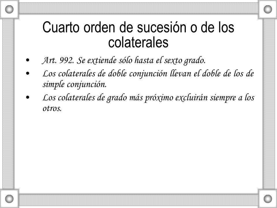Cuarto orden de sucesión o de los colaterales