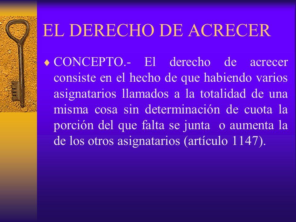 EL DERECHO DE ACRECER