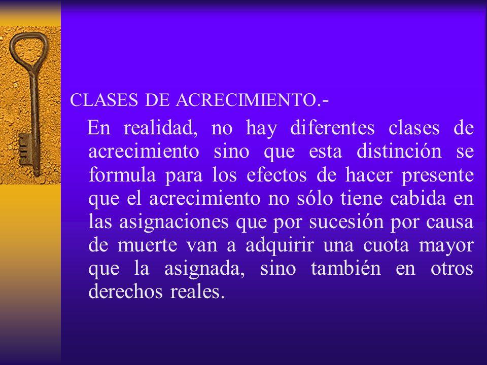 CLASES DE ACRECIMIENTO.-