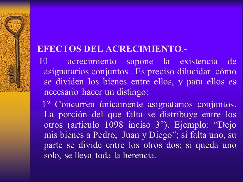 EFECTOS DEL ACRECIMIENTO.-
