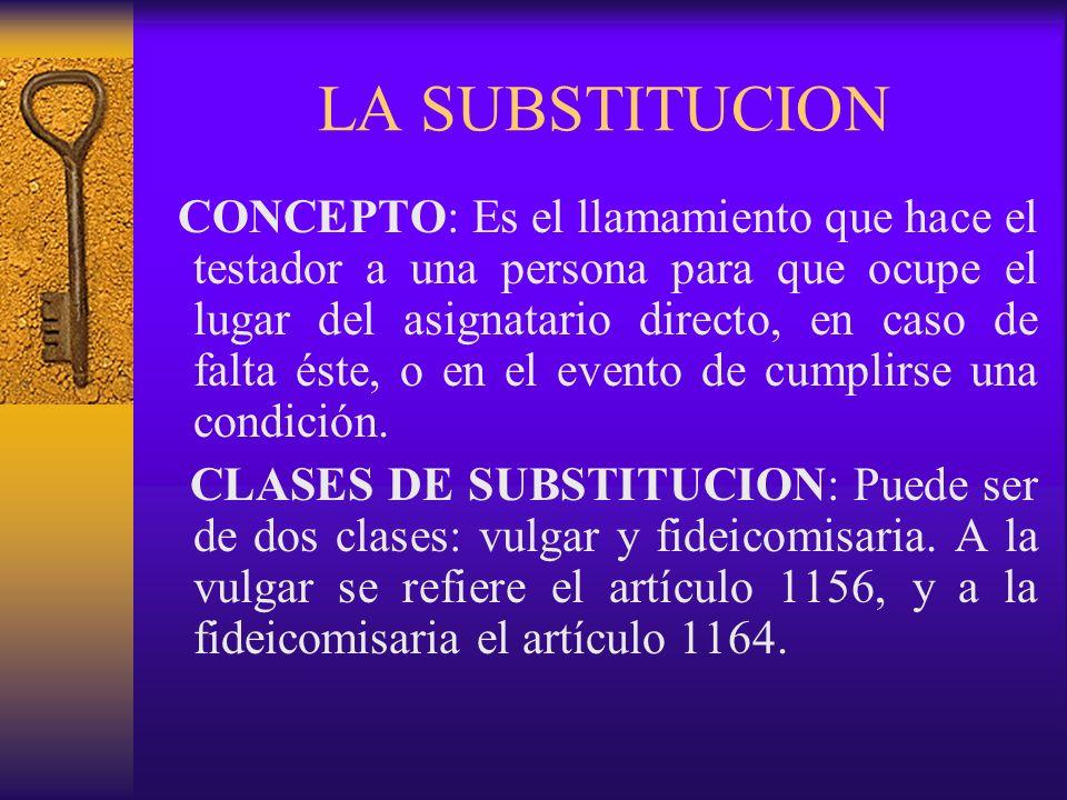 LA SUBSTITUCION