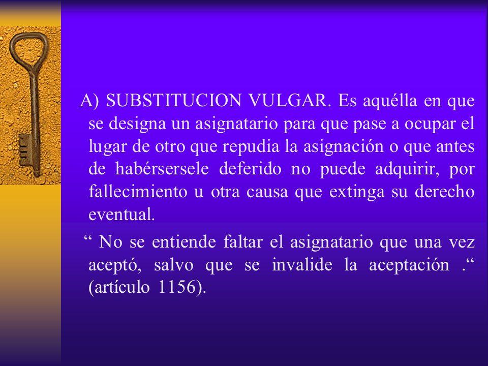 A) SUBSTITUCION VULGAR