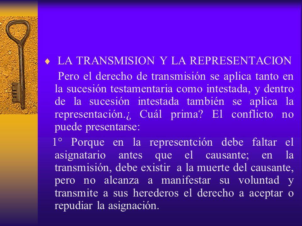LA TRANSMISION Y LA REPRESENTACION