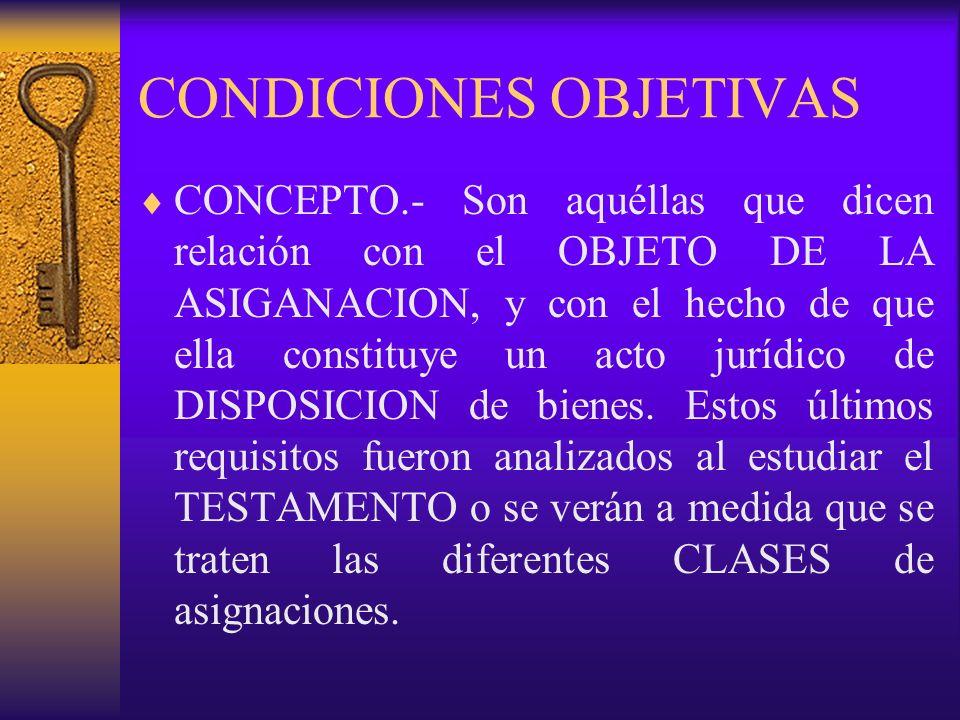 CONDICIONES OBJETIVAS