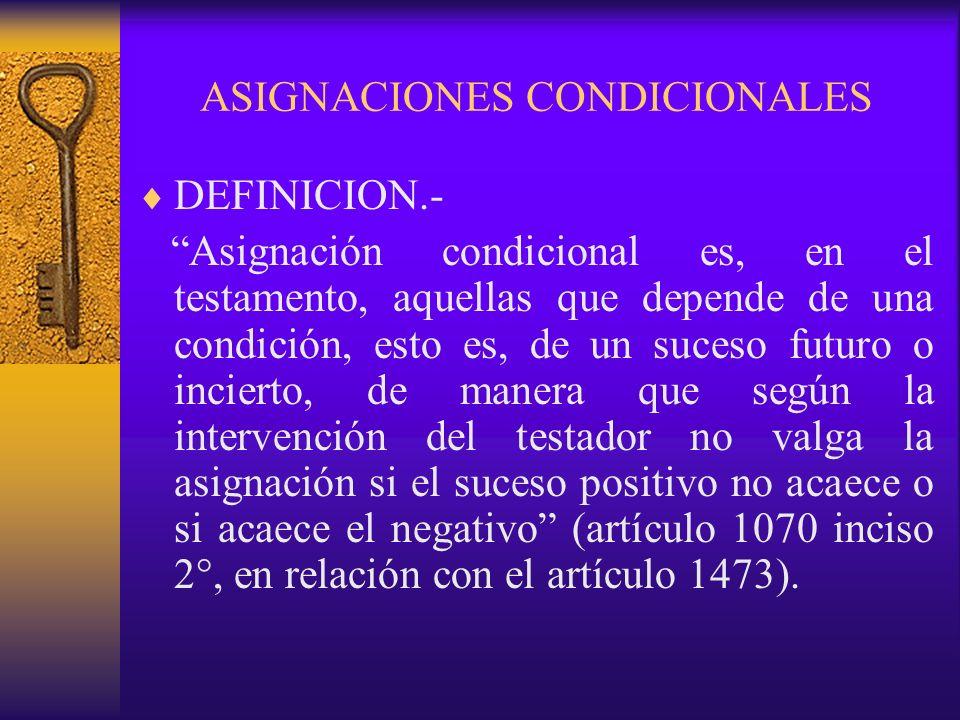 ASIGNACIONES CONDICIONALES