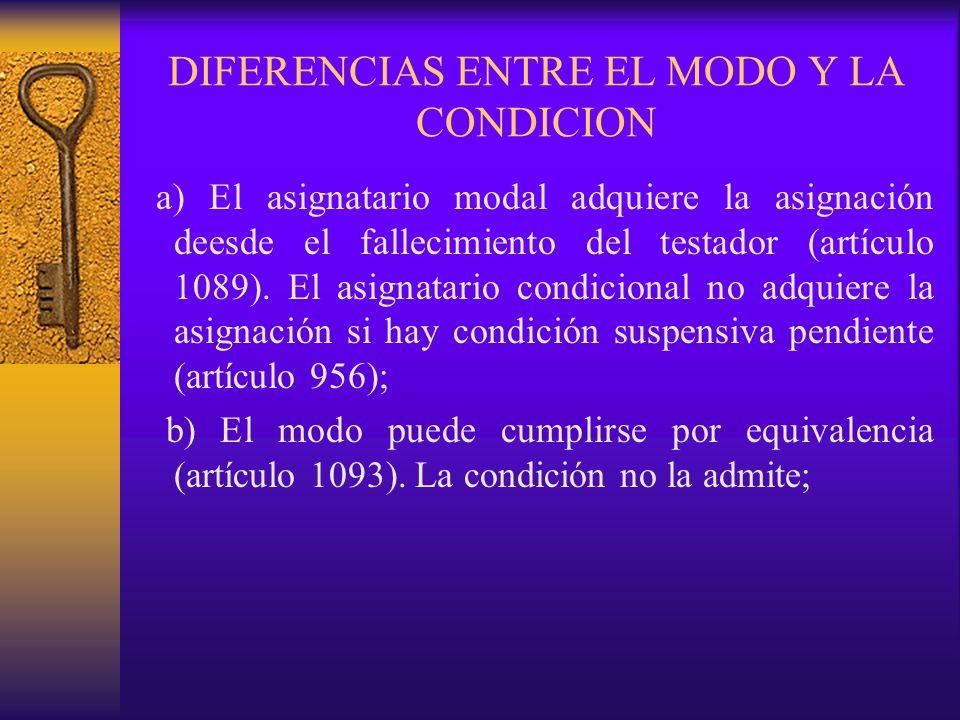 DIFERENCIAS ENTRE EL MODO Y LA CONDICION