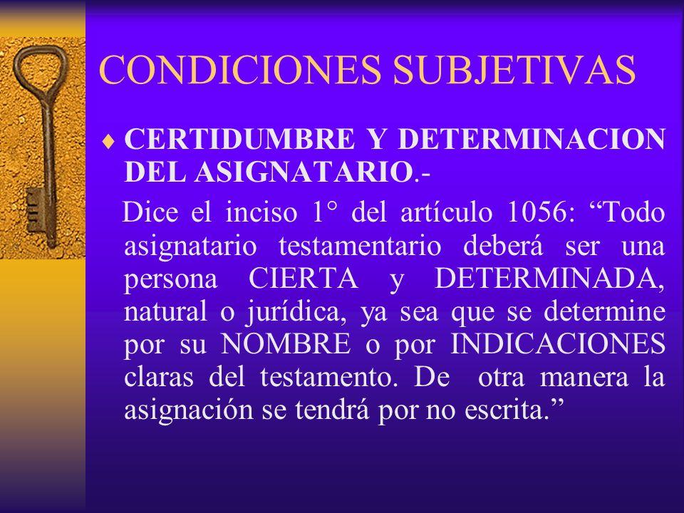 CONDICIONES SUBJETIVAS