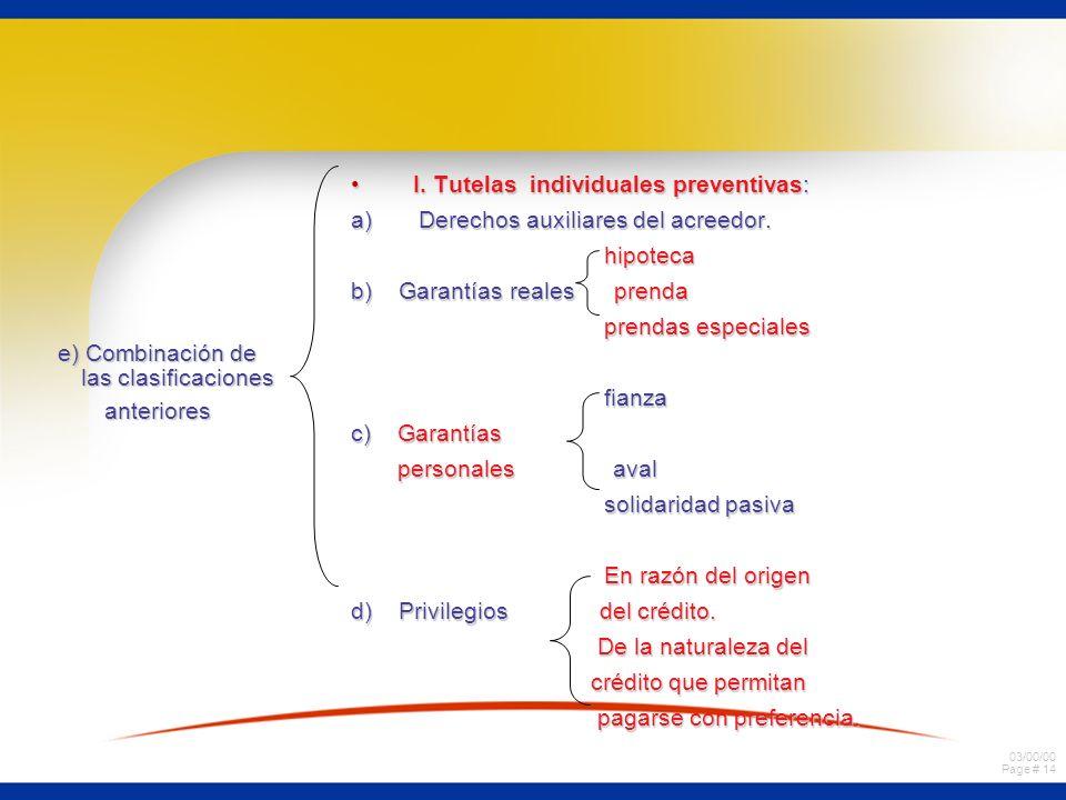 e) Combinación de las clasificaciones