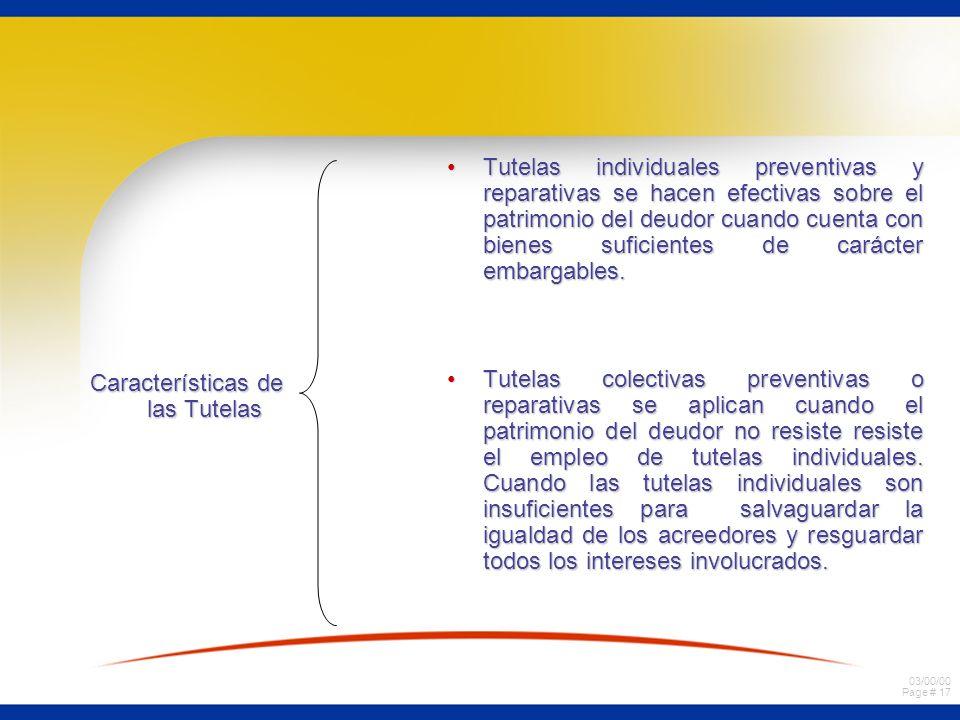 Características de las Tutelas