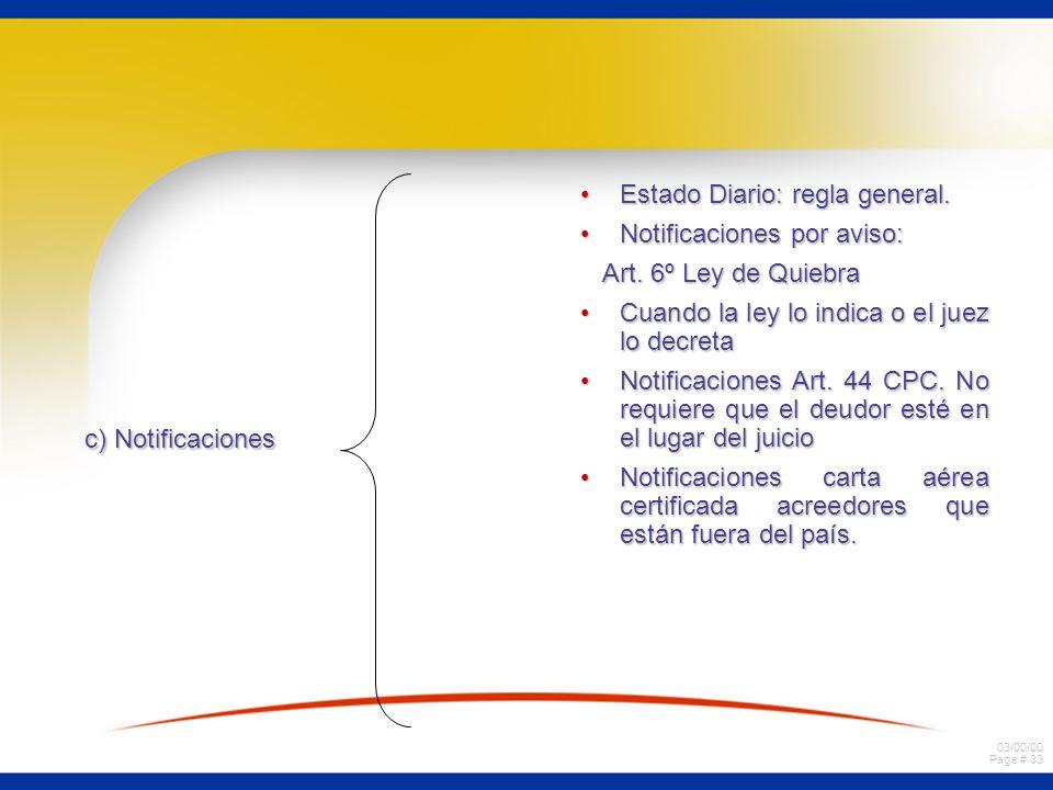 Estado Diario: regla general.