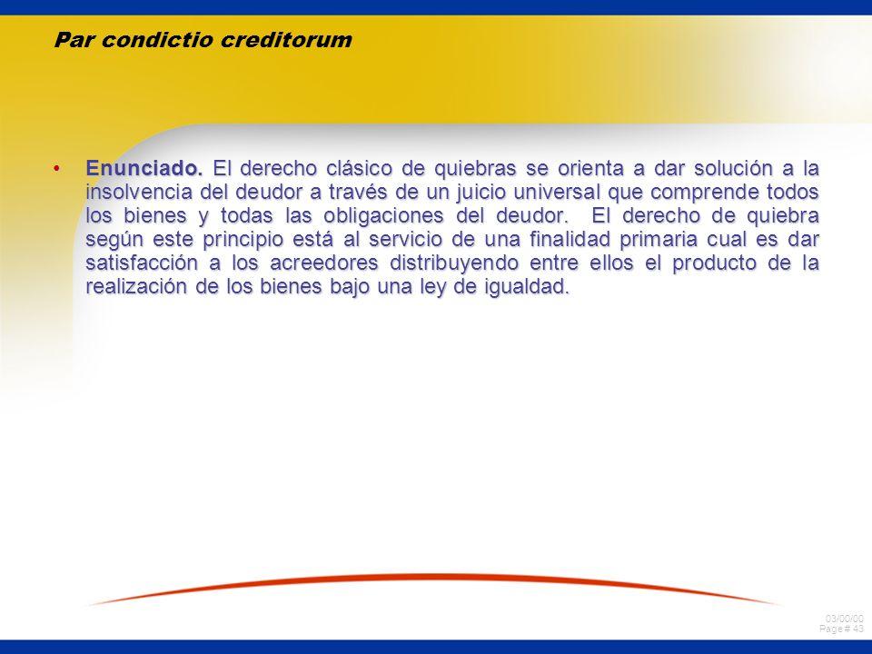 Par condictio creditorum