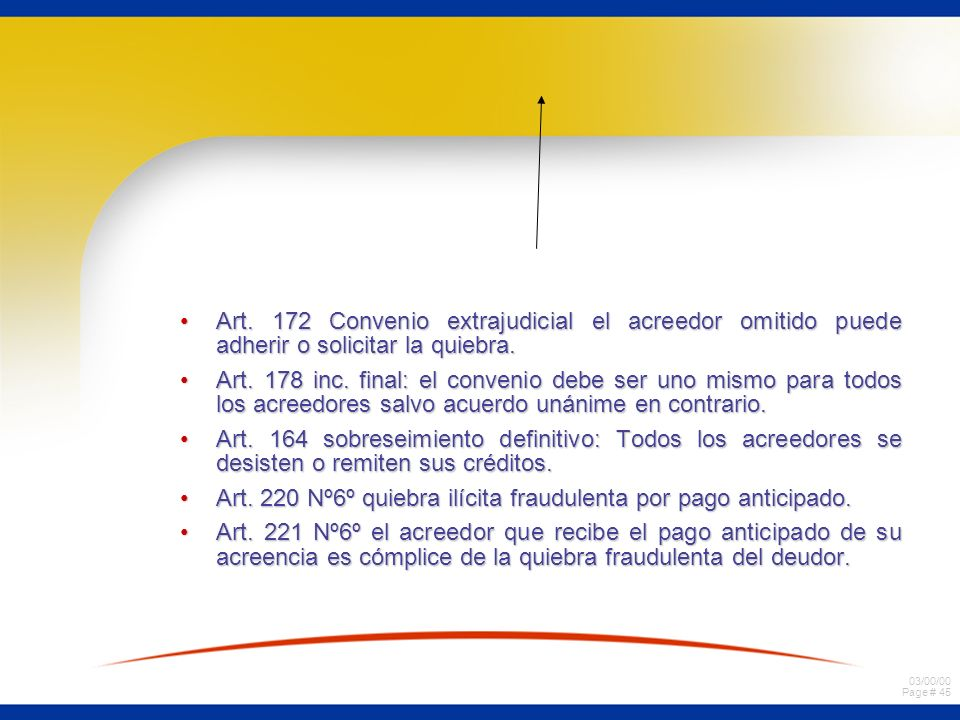 Art. 172 Convenio extrajudicial el acreedor omitido puede adherir o solicitar la quiebra.
