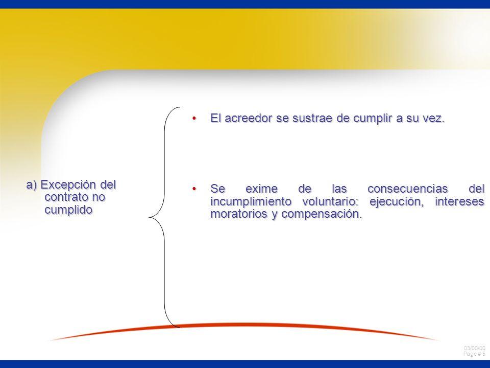 a) Excepción del contrato no cumplido