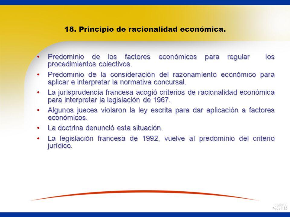 18. Principio de racionalidad económica.