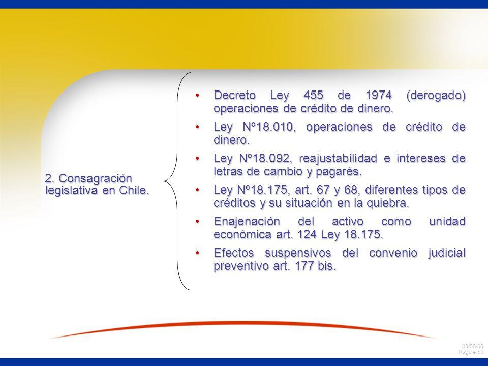 2. Consagración legislativa en Chile.