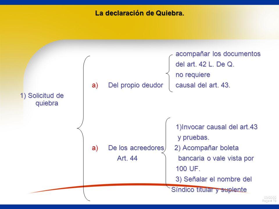 La declaración de Quiebra.