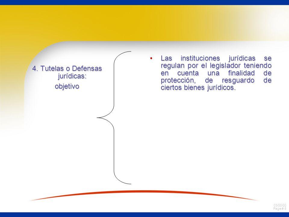 4. Tutelas o Defensas jurídicas: