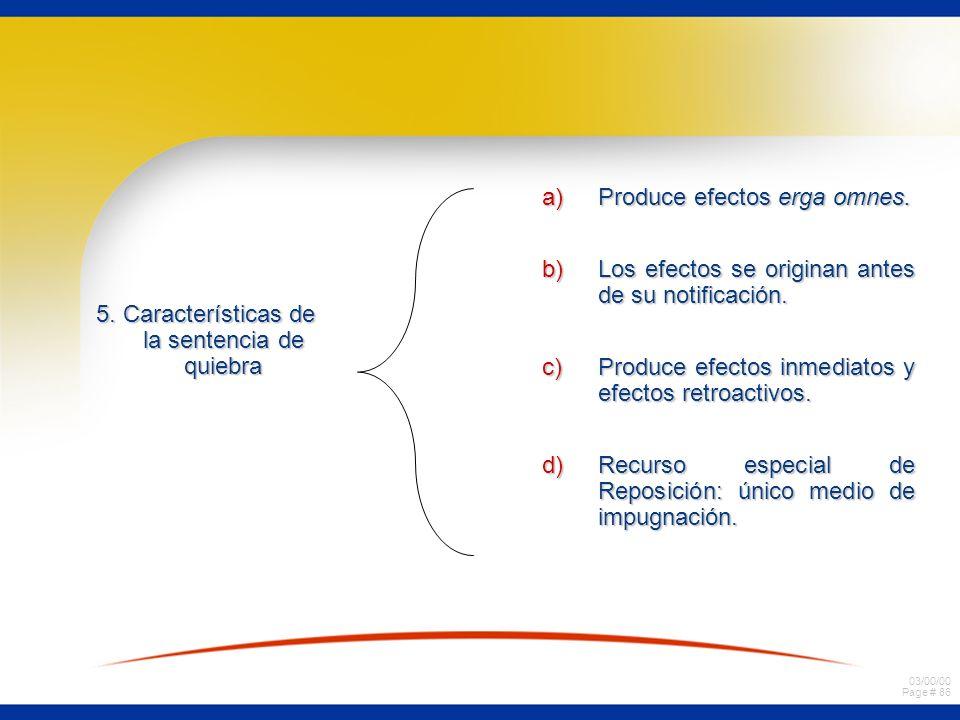 5. Características de la sentencia de quiebra