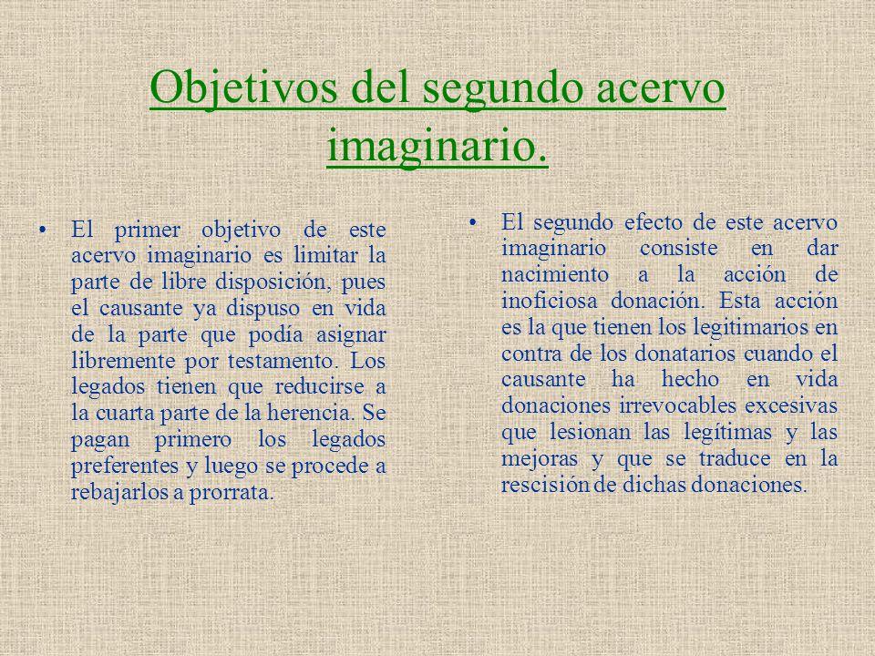 Objetivos del segundo acervo imaginario.