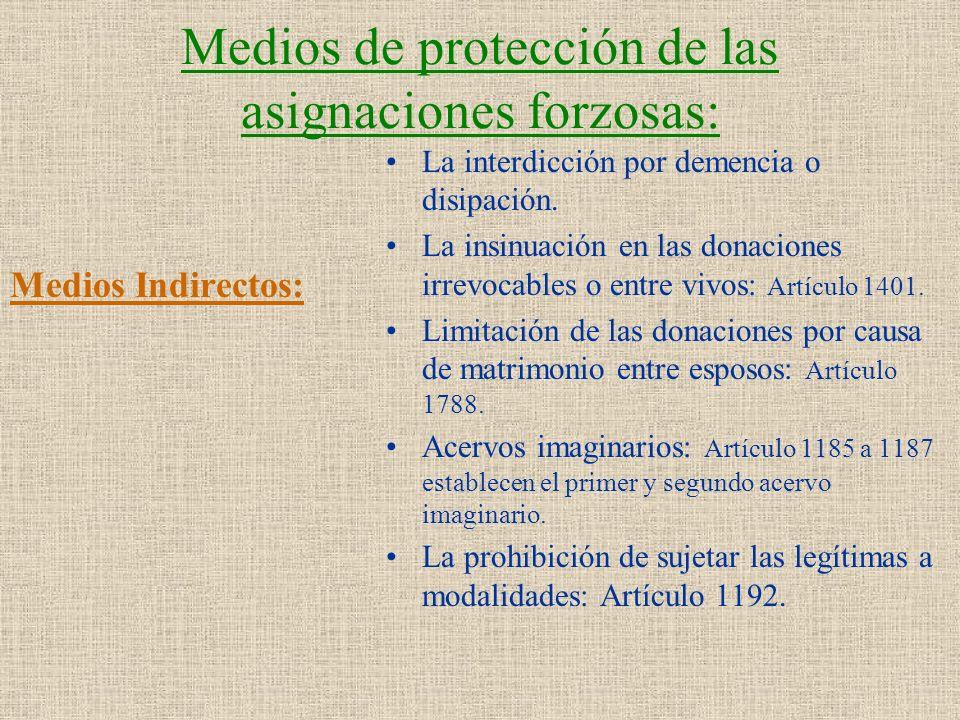 Medios de protección de las asignaciones forzosas: