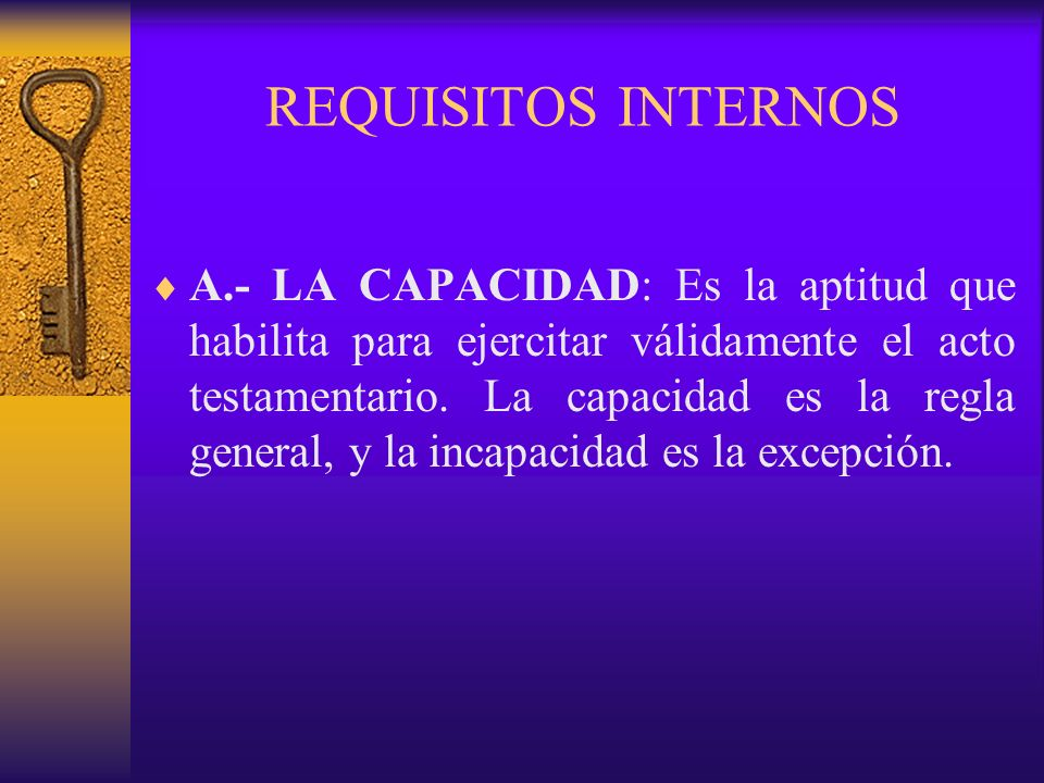 REQUISITOS INTERNOS