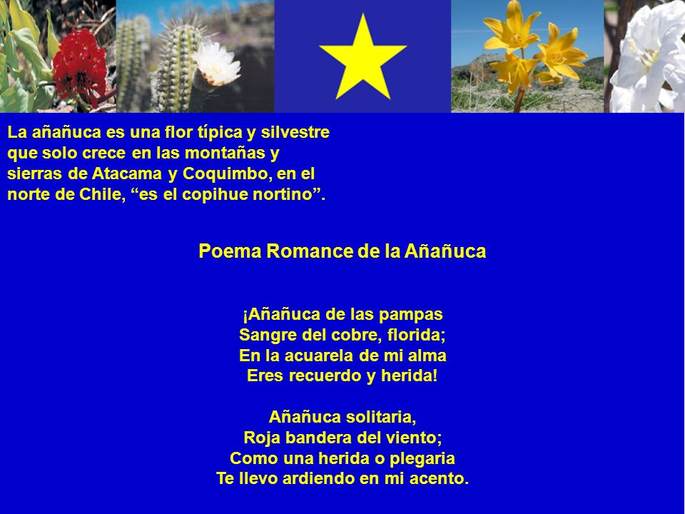 Poema Romance de la Añañuca