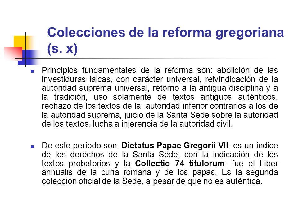 Colecciones de la reforma gregoriana (s. x)