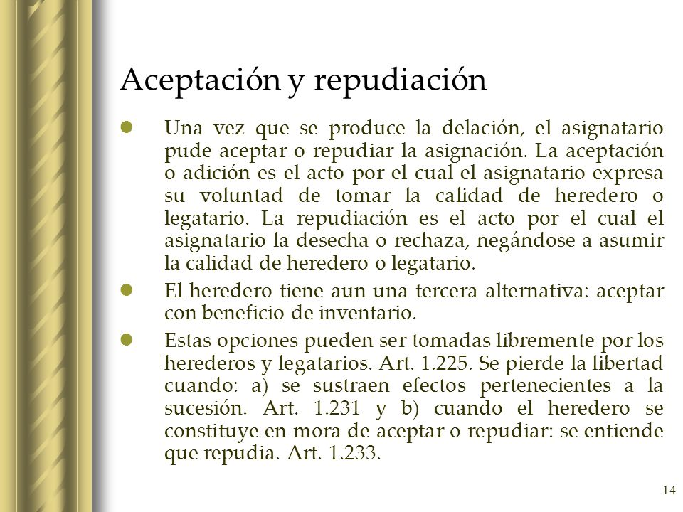 Aceptación y repudiación