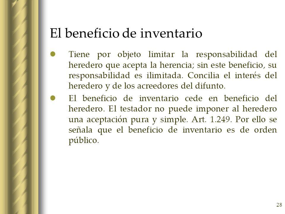 El beneficio de inventario