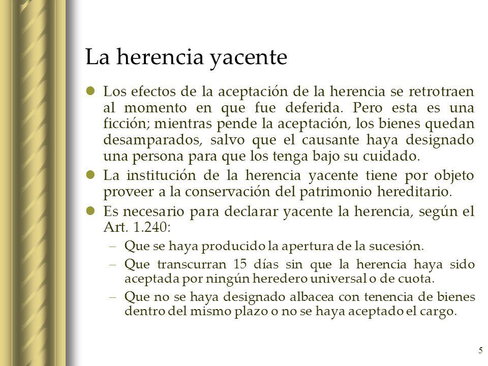 La herencia yacente