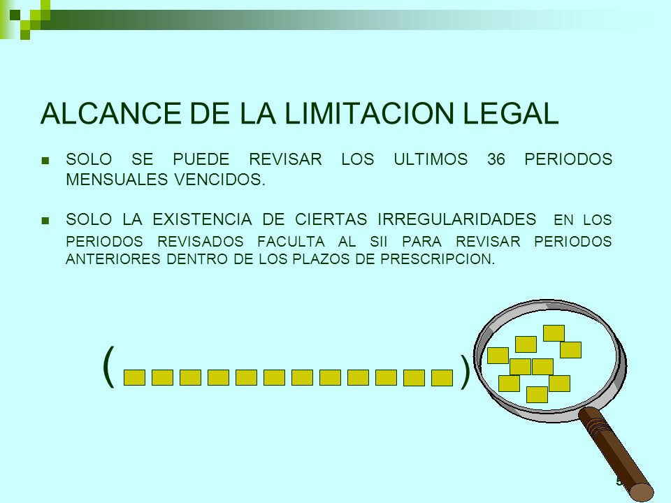 ALCANCE DE LA LIMITACION LEGAL