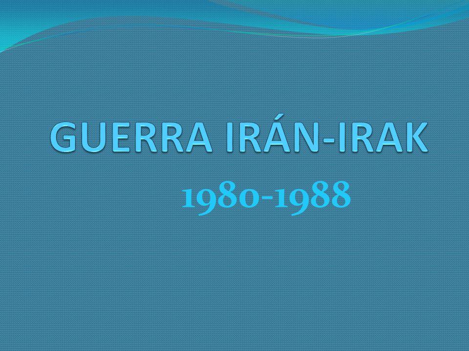 GUERRA IRÁN-IRAK 1980-1988