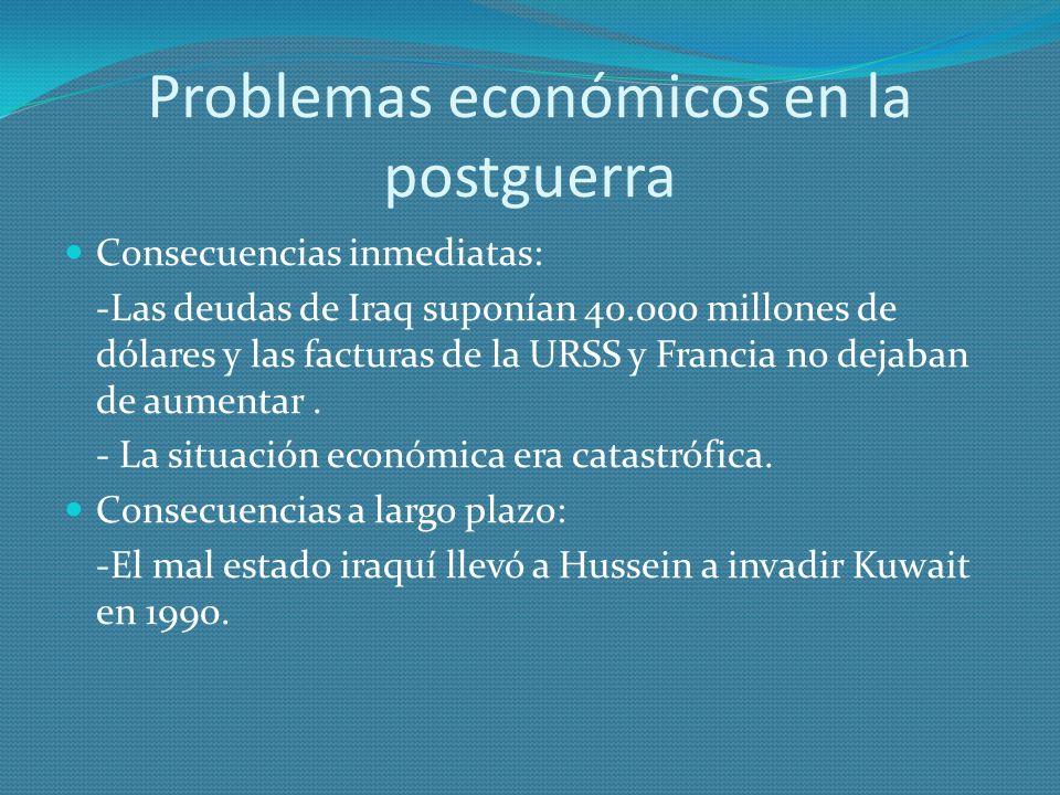 Problemas económicos en la postguerra
