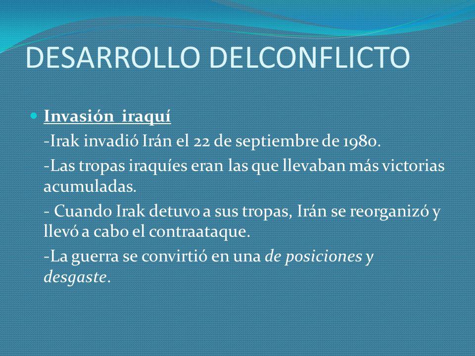 DESARROLLO DELCONFLICTO