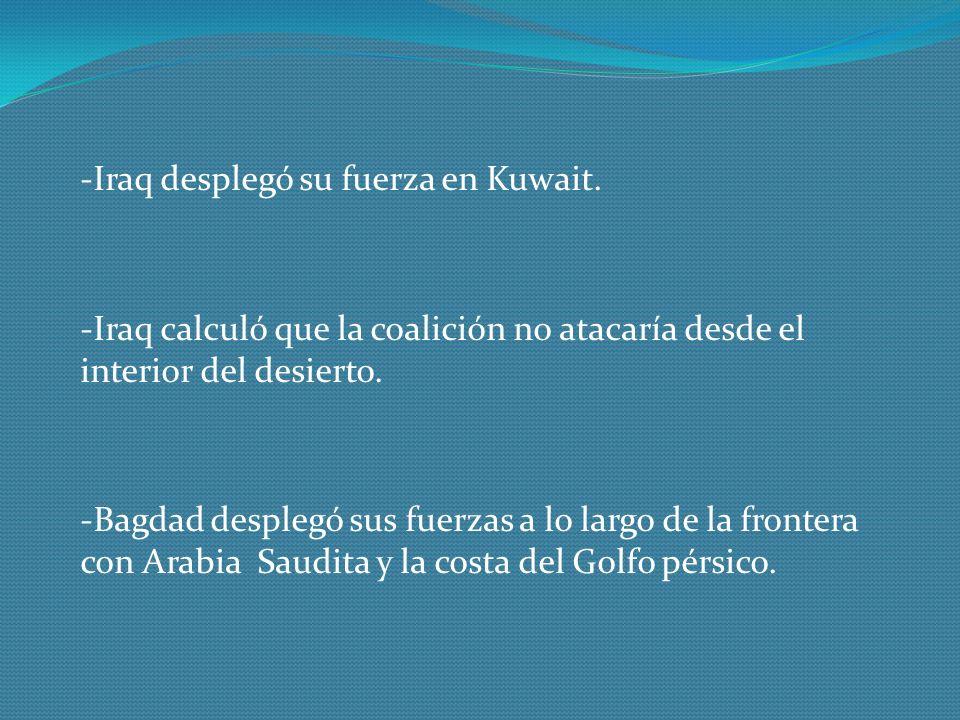 -Iraq desplegó su fuerza en Kuwait