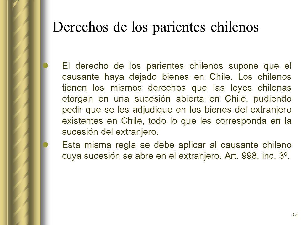 Derechos de los parientes chilenos