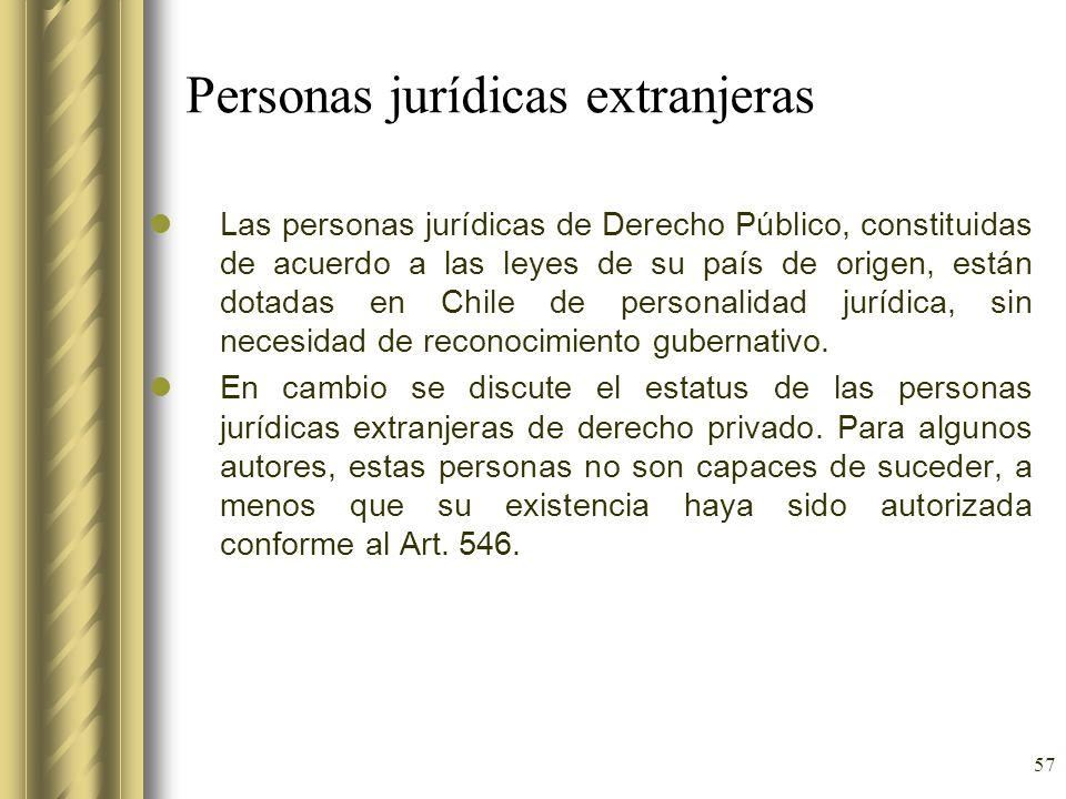 Personas jurídicas extranjeras