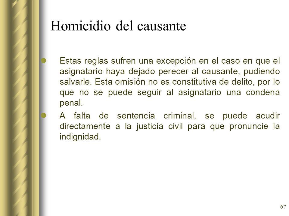 Homicidio del causante