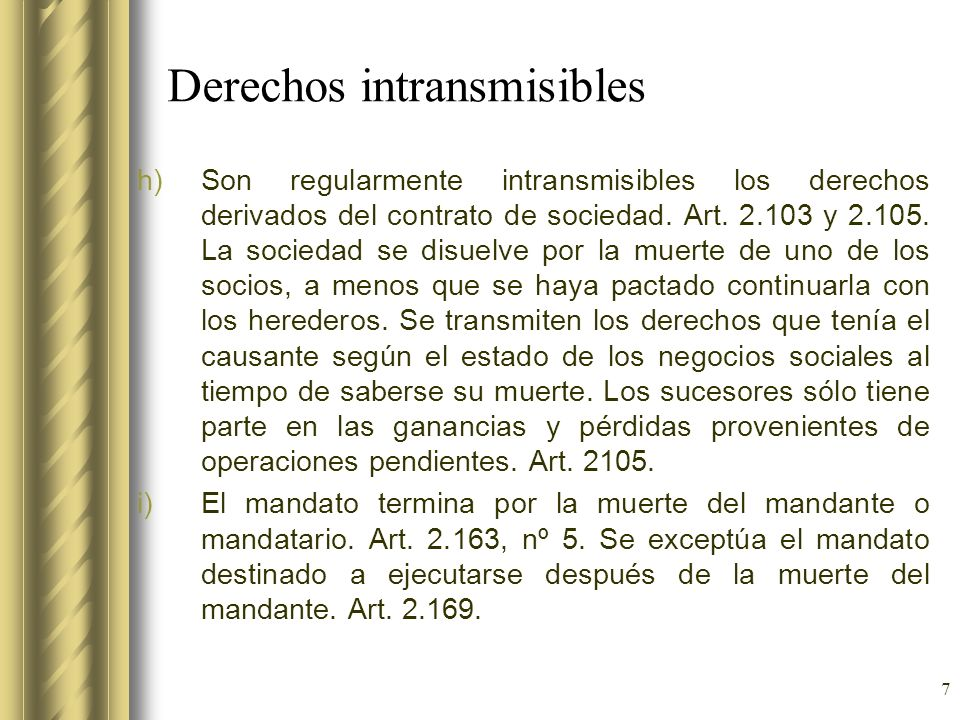 Derechos intransmisibles