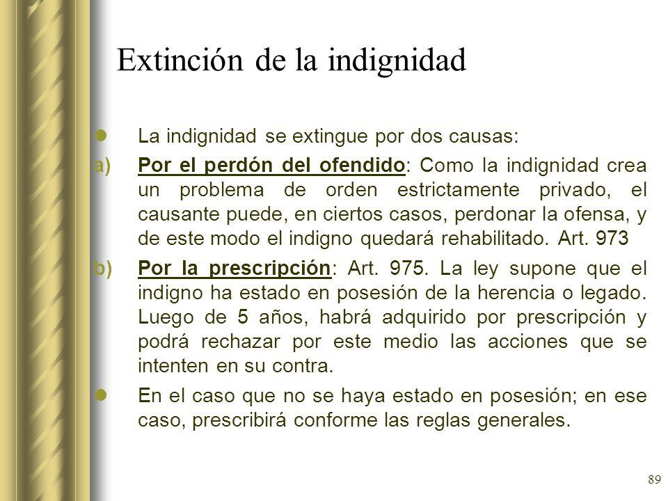 Extinción de la indignidad