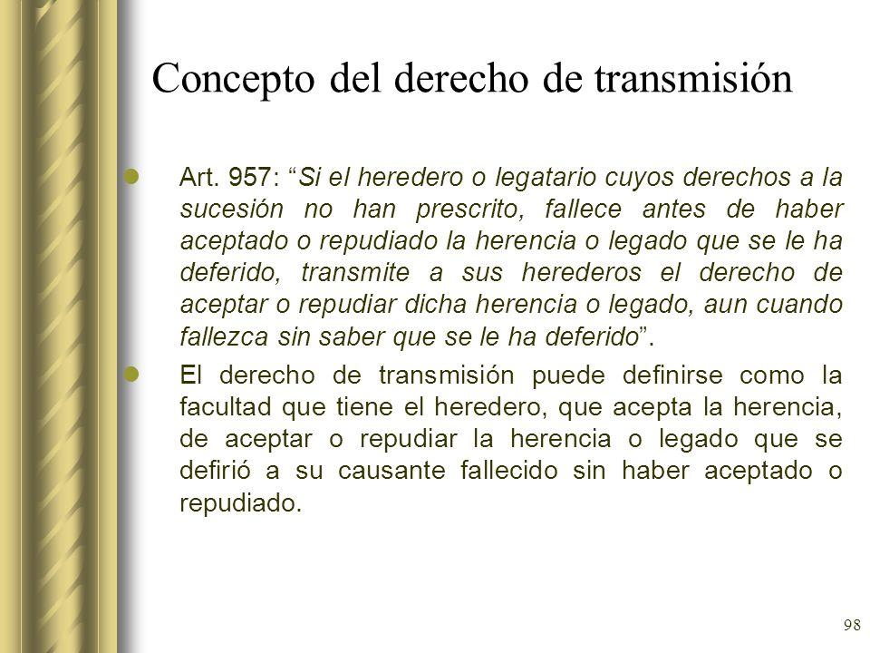 Concepto del derecho de transmisión
