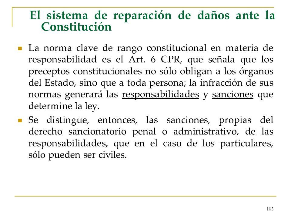 El sistema de reparación de daños ante la Constitución