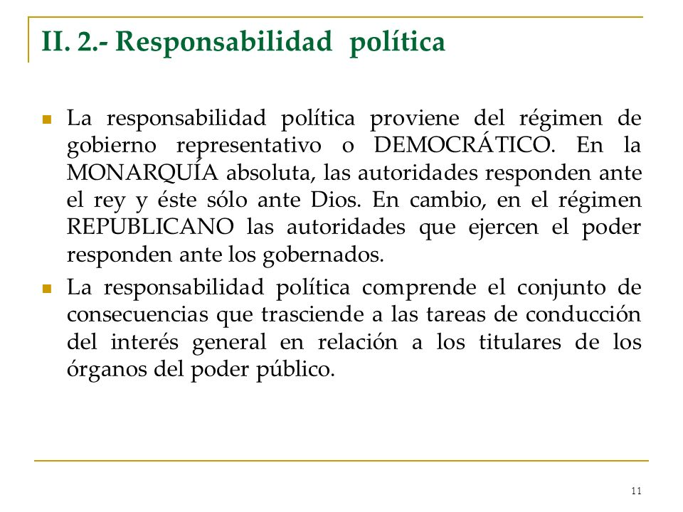 II. 2.- Responsabilidad política