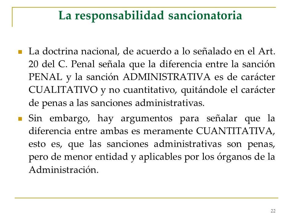 La responsabilidad sancionatoria